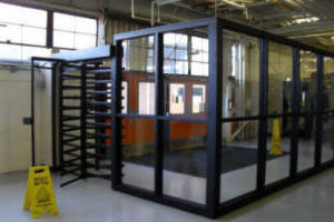 Canopy Full Height Tandem Turnstile and ADA Gate, Shelters, Barriers, Fencing - Steel, Glass, Aluminum, Powder-Coated, Galvanized