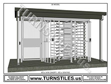 Canopy Full Height Tandem Turnstile and ADA Gate
